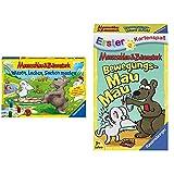Ravensburger 21298 - Wissen, Lachen, Sachen Machen - Mauseschlau & Bärenstark für Kinder & Bewegungs Mau Mau, Mauseschlau & Bärenstark für Kinder, Kinderspiel für 2-4 Spieler, Kartenspiel ab 3 Jahren