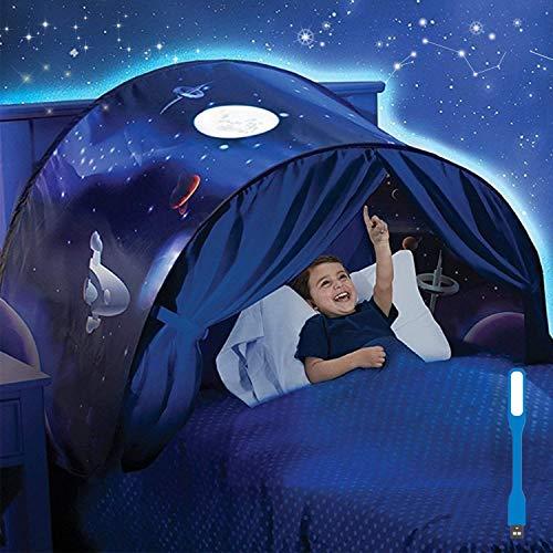 Tents Spielzelte Bettzelt Bettzelt Traumzelt Kid's Fantasy Kinder Schlafzimmer Dekoration Kinder Lesen (Weltraumabenteuer)