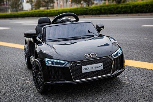 RC Auto kaufen Kinderauto Bild 3: Kinderelektroauto - Audi R8 - 2 Motoren - Kinderfahrzeug Lizenz Fernbedienung - Schwarz*