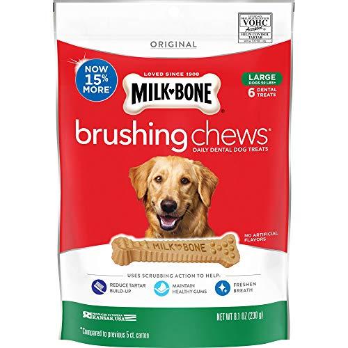 Milk-Bone Original Brushing Chews, 30 Large Daily Dental Dog Treats