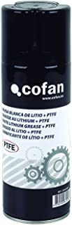 Cofan 15000007 Grasa de litio y PTFE, Blanco, 400 ml
