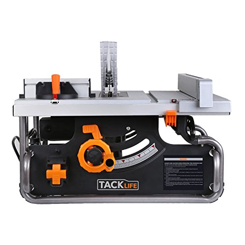 Tacklife PTSG1A 10' Table Saw with 40'X20' Max Extendable, 15 Amp 120V, Extra Carbon Brush