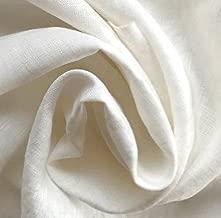 ハンドメイド用生地 150cm巾 リネン100% 無地 ホワイト 薄地 R0040(旧品番 W-040)
