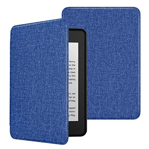 MoKo Case Fits Kindle Paperwhite (10th Generation, 2018 Releases), Premium Ultra Lightweight Shell Cover with Auto Wake/Sleep for Amazon Kindle Paperwhite 2018 E-reader - Blue