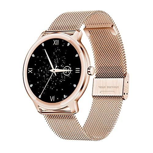 YYZ S06 Smart Watch Pulsera Femenina Metal de Oro Ratón cardíaco Smart Watch Custom Strap Strap SmartWatch,A