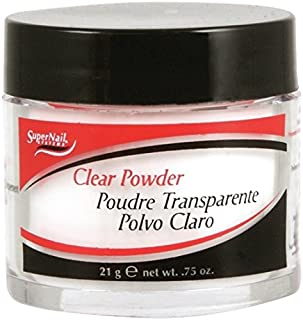 super nail French Acrylic Clear Powder, 0.75 Ounce