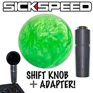 Green Pearl Shift Knob & Adapter For Auto/Automatic Gear Shifter Lever 2B for Chrysler PT Cruiser