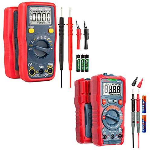 AstroAI Digital Multimeter Battery Voltage Tester 1.5v/9v/12v Auto-Ranging 4000 Counts TRMS DMM/Ohmmeter/Voltmeter with Non-Contact Voltage Function(Classic/New Version)