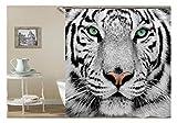 Aeici Duschvorhang Tiger Badewanne Stöpsel Polyester Bad Vorhang Bunt 180X200Cm