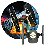 Projectables Star Wars LED Night Light Projector, TIE Fighter, Collector's Edition, Plug-in, Dusk-to-Dawn, Image on Ceiling, Wall, or Floor, Ideal for Bedroom, Nursery, 43057