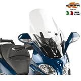 Parabrisas Transparente 65 x 50 cm (Altura x Anchura) Kappa KD229ST Piaggio X9 200–250–500 Evolution (03  08)
