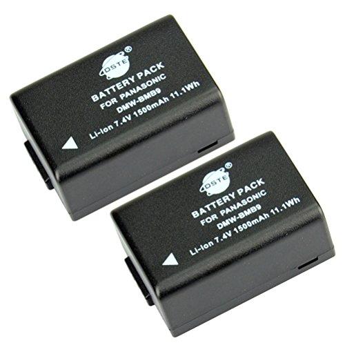 DSTE 2-Pack Ersatz Batterie Akku for Panasonic DMW-BMB9 Lumix DMC-FZ40 DMC-FZ45 DMC-FZ47 DMC-FZ48 DMC-FZ60 DMC-FZ62 DMC-FZ70 DMC-FZ72 DMC-FZ100 DMC-FZ150 V-Lux2 V-Lux3 Kamera