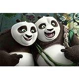 Película Kung Fu Panda Madera 500 Piezas 1000 Piezas 1500 Piezas Rompecabezas para Adultos Juguetes Educativos para Niños 300500 1500 Piezas(Color:si,Size:1500pc)