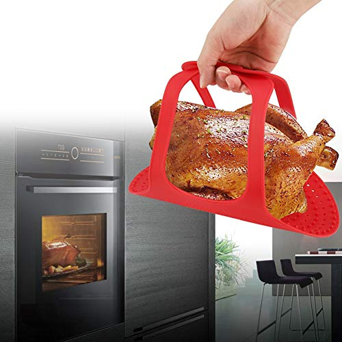 Turkey Lifter Food Grade Silicone Heat Resistant Turkey Lifter Non Stick Poultry Cooking Mat