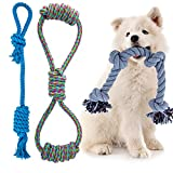 2021 New Dog Rope Toys for Aggressive Chewers Indestructible Dog Tug Toy for Dogs Tough Rope for Dogs Pressure Relief and Teeth Cleaning (Set of 3)