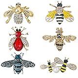 WMHaiMo 6pcs Crystal Rhinestone Assorted Honeybee...