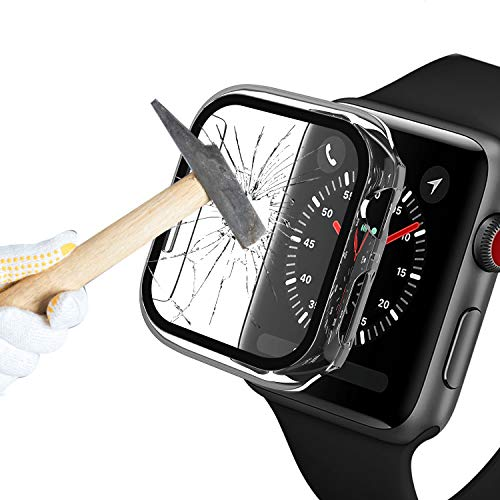 Capa Bumper Vidro Temperado Para Apple Watch Series 1/2/3/4/5 transparente tamanho 42mm
