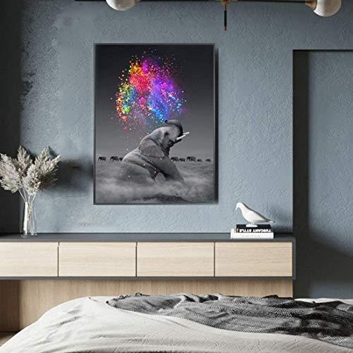 Juego de pintura de diamantes 5D para hacer tú mismo (5 bonitos cuadros de diamante), diseño de elefante