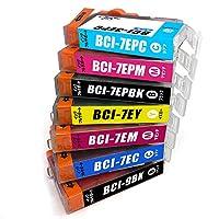 BCI-7e+9/7MP 7色セット Canon キャノン 互換インク ICチップ付 1年保証付 プリンター保証付