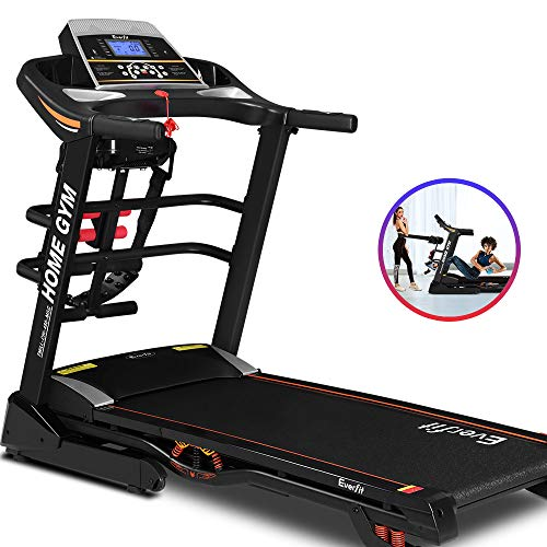 Treadmill Home Gym Folding Equipment Exercise Workout Fitness Running Equipment Machine with 1.5-3.5HP 12 Training Programs 12-18KM/H Speed LCD Display Everfit (CHI-480-MSG)