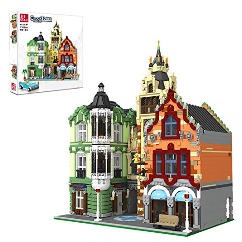 TENGER 7188 piezas juego de construcción, espacio de la torre del reloj, arquitectura de casa de ciudad, Modular Building, bloques de construcción compatible con Lego