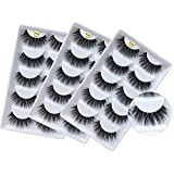 3D Mink Lashes Wholesale Handmade Reusable Mink Eyelashes Luxurious Wispy Natural Cross Thick Long False Lashes Pack (15 Pairs/3 Pack)