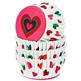 Pirottini per Muffin,QSXX 100 Pezzi Cupcake Pirottini da Forno,Grande Pirottini in Carta per Muffin Pirottini per Cupcake Pirottini di Carta per Muffin per Feste di Natale Torta Matrimoni Compleanni