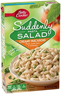 Betty Crocker Suddenly Pasta Salad, Creamy Macaroni (Pack of 4)