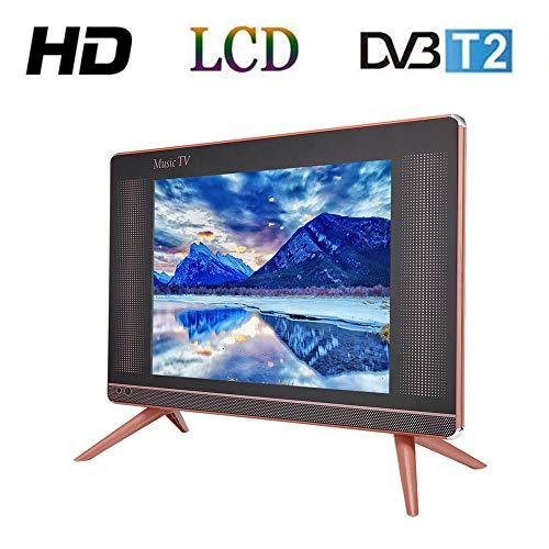 Tosuny 17 Pulgadas Televisor LCD HD DVB-T2, Resolución 1366x768 TV Portátil con Altavoz Bass, HDMI, USB, VGA, TV/AV Puerto (Enchufe UE)