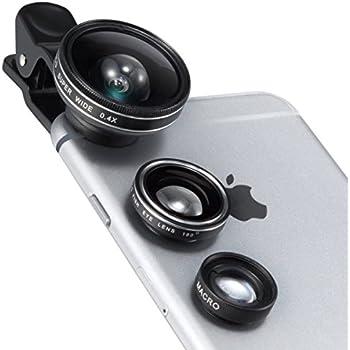 TaoTronics カメラレンズキット クリップ式 スマホレンズ 3点セット(魚眼,マクロ,0.4倍広角レンズ) スマホ タブレット インスタ映え TT-SH014