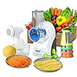 WUIIEN 3 in 1 Electric Food Processor Citrus Juicer Frozen Dessert Maker Compact Design