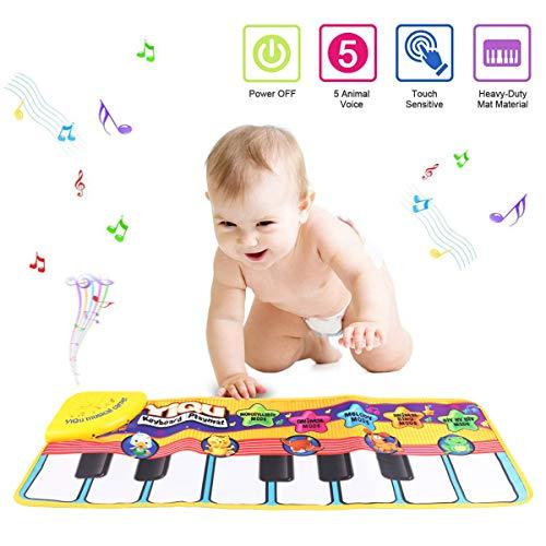 Tapete para piano, juguete con tapete para niños, tapete de...