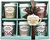 Thoughtfully Gifts, Mini Hot Chocolate Gift Set, Flavors Includes Caramel, Toasted Marshmallow, French Vanilla, Salted Caramel, Double Chocolate and Peppermint, Set of 6