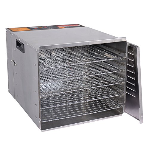 For Sale! KCHEX>>10 Tray Food Dehydrator Stainless Steel Fruit Jerky Dryer Blower Commercial New>>Us...