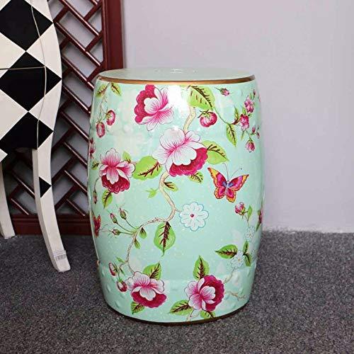 GYXZM Taburetes Exterior Pintado A Mano Flores Y Pájaros Taburetes Chinos Taburete De Cerámica De Cerámica Banquetas Banqueta Redonda