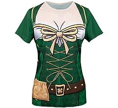 COSAVOROCK Disfraz de Leprechaun Mujer Traje de San Patricio ...