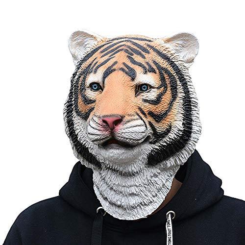 CXSMKP Máscara De Tigre del Super Bowl De Disfraces De Halloween, Máscara De Látex De Miedo De Cosplay, para La Fiesta De Disfraces De Halloween del Festival De Cosplay