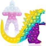 2PCS Godzilla Vs King Kong Bubble Sensory Push Pop Jumbo Fidget Toys, Suitable for Relieves Stress...