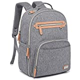 Diaper Bag Backpack, WELAVILA Large Baby Changing Bags with Insulated Pockets & Changing Pad, Multi-Function Unisex Travel Back Pack (Gray)