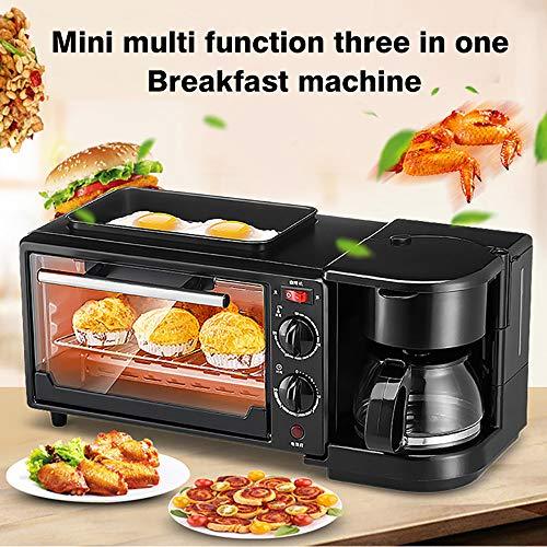 Ofen Mikrowelle Kombi,Minibackofen,Edelstahl Backofen mit Umluft,Miniofen Minibackofen,Backofen Klein Pizza,Home Multifunktions-drei-in-eins-frühstücksmaschine,Mini-Multifunktionsofen,Black