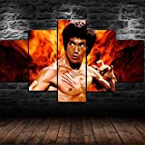 CCAR Leinwand Bilder 5 teilig Bruce Lee Kung Fu 5 teiliges