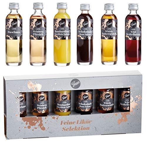 Gepp's Feinkost Likör-Set mit edler Geschenkverpackung I Probier- und Geschenkset mit einer Auswahl an feinsten Spirituosen, hergestellt nach eigener Rezeptur I 6x40ml (202018)