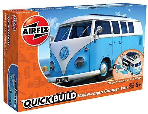 Airfix- Quick Build VW Camper Van Model Vehicle Toy, Color Azul (Hornby Hobbies LTD J6024)