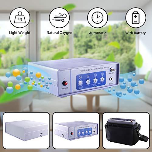 KKTECT Tragbarer Sauerstoffkonzentrator Generator, 1-6L/min, 93% ± 3% Hohe Reinheit Sauerstoff Generator, für den Heimreisebetrieb, Auto Oxygen Bar Machines 24 Stunden ununterbrochen mit Fernbedienung