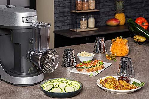 Krups Premium Küchenmaschine 17 teilig, 4,6L Edelstahlschüssel, Silikonschüssel, 4 Rührwerkzeuge Edelstahl, spülmaschinenfest, 1100W, Schnitzelwerk, Fleischwolf, Gratis Rezepte und 12er Cupcake Form - 9