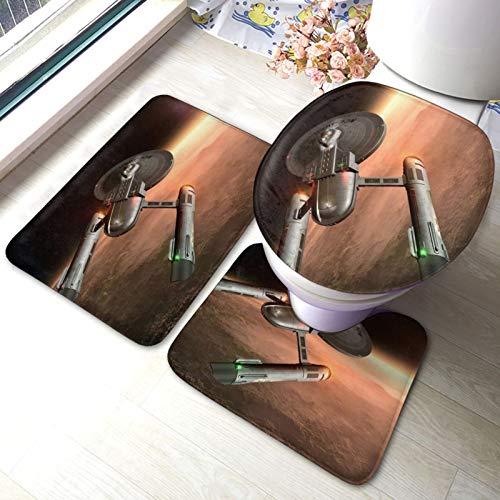 XIAODONG Star Trek - Juego de 3 alfombrillas de baño (40 x 60 cm)