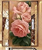 Diy 5d Diamond Painting Kits Amante rosa Diamond Art for Adults and Kids Full Drill Crystal Rhinestone Embroidery Cross Stitch Arts Craft for Home Wall Decoration 70x140cm F0168