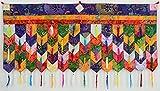 BUDDHAFIGUREN/Billy Held Buddhistischer Wandbehang Chukor 99 cm x 40 cm Tibet Brokat