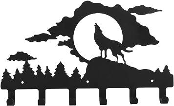 1Pc Ijzer Wandmontage Jas Kledinghaak Rek Wandmontage Duurzaam Praktische Ijzeren Wandhaak voor Slaapkamer, Zwart