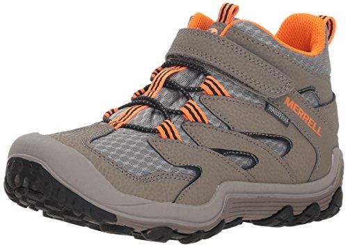 Merrell Kids' Unisex M-Chameleon 7 Access Mid A/C Wtrpf Hiking Shoe, Gunsmoke, 4 Medium US Big Kid